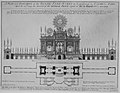 Peace of Aix-la-Chapelle- A Plan and Elevation of the Royal Fire-Works, London, 1749 MET MM31664.jpg