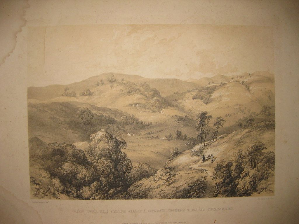 File:Peacocke-View Over the Native Village, Coonoor ...