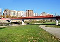 Pedestrian bridge over Segre River in Lleida, Spain.JPG