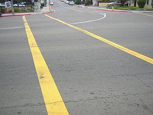 Pedestrian crosswalk, San Diego, California, U...