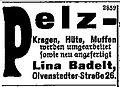 Pelz Lina Badelt, Magdeburg 1919, advertisement.jpg