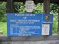 Penrhos Church notice board - geograph.org.uk - 1328162.jpg