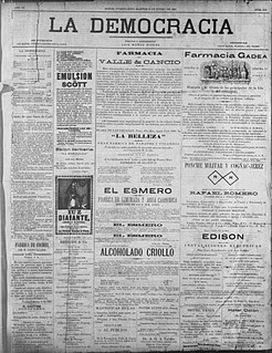 <i>La Democracia</i> (newspaper) Newspaper founded in 1890 in Ponce, Puerto Rico