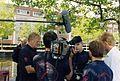 Peter van der Sluijs uit Spijkenisse tijdens vele van zijn tv optredens..jpg