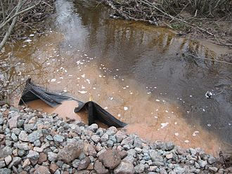 Petitcodiac River - A polluted waterway in the Petitcodiac River watershed