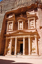The ancient city of Petra.
