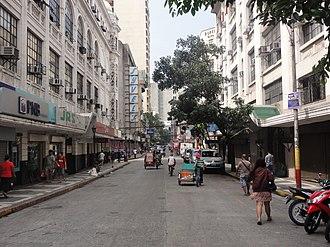 Escolta Street - Westward view of Escolta Street in 2014.