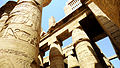 Pharonic Columns with pharonic writes in Karnak Temple , Luxor.JPG