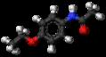 Phenacetin molecule ball.png