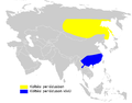 Phylloscopus proregulus distribution map.png