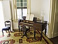 Piano in front of the window where D. W. Whitehurst scratched his name - Ximenez-Fatio House Museum - St Augustine, 2014-04-23 (7416).jpg