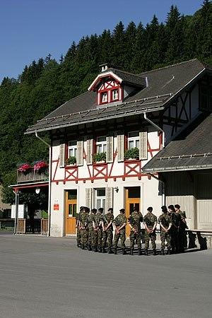 Elm, Switzerland - Former tramway station in Elm