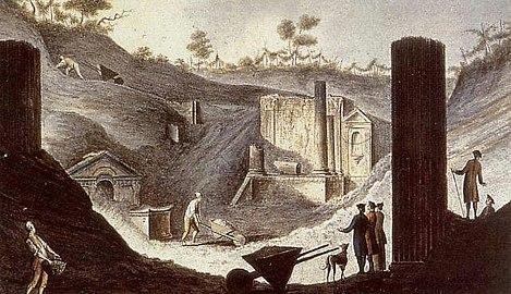 Pietro Fabris - Ausgrabung des Isis-Tempels in Pompeji.jpg