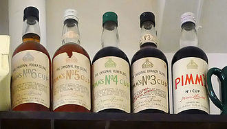 Pimm's - Some less-frequently-seen Pimm's bottles