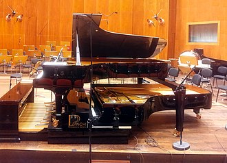 Pedal piano - Pinchi Pedalpiano System with two Steinway D pianos