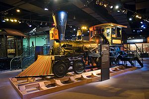 Pioneer (locomotive) - Pioneer on display at the Chicago History Museum