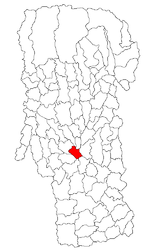 Location in Argeș County