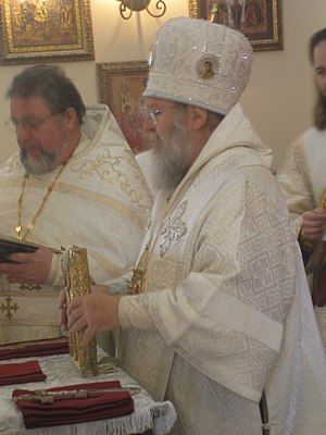 Dalmatic - Bishop wearing a sakkos