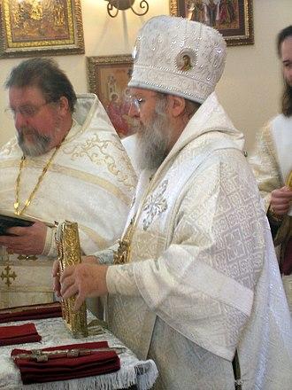 Dalmatic - Bishop wearing a sakkos