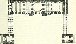 Jama Mosque, Jaunpur - Plan of Western Half of Jami Masjid Jaunpur India