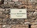Plaque Rue Fernand Bucchianéri - Solutré-Pouilly (FR71) - 2021-03-02 - 2.jpg