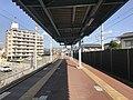 Platform of Chojabaru Station (Sasaguri Line) 5.jpg