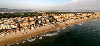 Miramar, Valencia - Beach and town of Miramar
