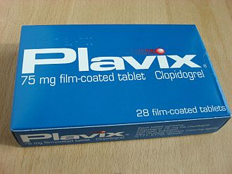 Purinergic signalling - Clopidogrel (Plavix), an inhibitor of the P2Y12 receptor, was formerly the second best-selling drug in the world