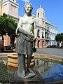 Plaza de Armas fountain - San Juan, Puerto Rico - DSC07109.JPG