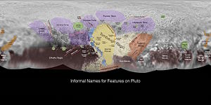 Planetary nomenclature - Informally named geographic features on Pluto