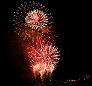 The view of the 2006 British Fireworks Championship over Plymouth Sound