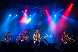 Poisonblack - Poisonblack performing at the 2014 Rakuuna Rock festival in Lappeenranta, Finland.