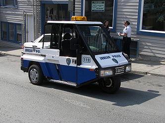 Police vehicle in Downtown Juneau, Alaska 8.jpg