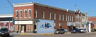 Ponca, Nebraska - The downtown Ponca Historic District is listed in the National Register of Historic Places.