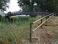 Pont peatonal al darrer tram del riu Llobregós.JPG