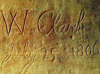 Billings, Montana - William Clark's inscription on Pompeys Pillar