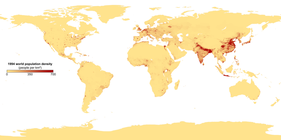 Population density with key