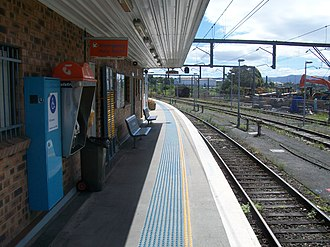 Port Kembla railway station - Westbound platform view in January 2008