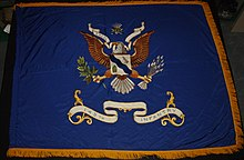 Post-1928 Regimental Colors of the 145th Infantry Regiment