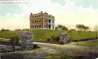 Ansonia, Connecticut - Image: Postcard Ansonia CT Griffin Hospital 1911