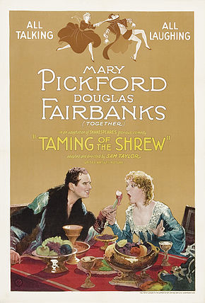 alt=Description de l'image Poster - Taming of the Shrew, The (1929) 01.jpg.