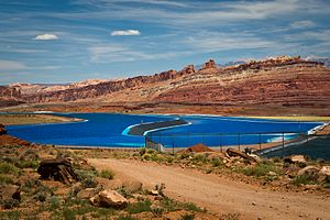 Potash - Potash evaporation ponds near Moab, Utah