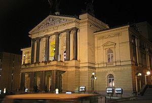 State Opera (Prague) - The State Opera, exterior.