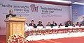 Pranab Mukherjee addressing at the inauguration of the 32nd India International Trade Fair, Pragati Maidan, in New Delhi. The Prime Minister of the Republic of Belarus, Dr. Mikhail Myasnikovich.jpg