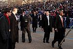 President Barack Obama walks in 57th Presidential Inaugural Parade 130121-Z-QU230-193.jpg
