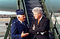 President Clinton talks with Col. Paul Fletcher, USAF.jpeg