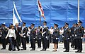 President George W. Bush and Dalia Itzi review the Knesset Guard of Honor.jpg