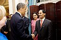 President Obama Shakes Hands With High-Ranking Indian Delegation Member (4700067744).jpg