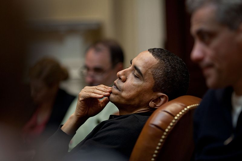File:President Obama reflects during an economic meeting with advisors in the Roosevelt Room..jpg