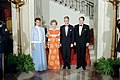 President Ronald Reagan, Nancy Reagan, Ingvar Carlsson, and Ingrid Carlsson.jpg